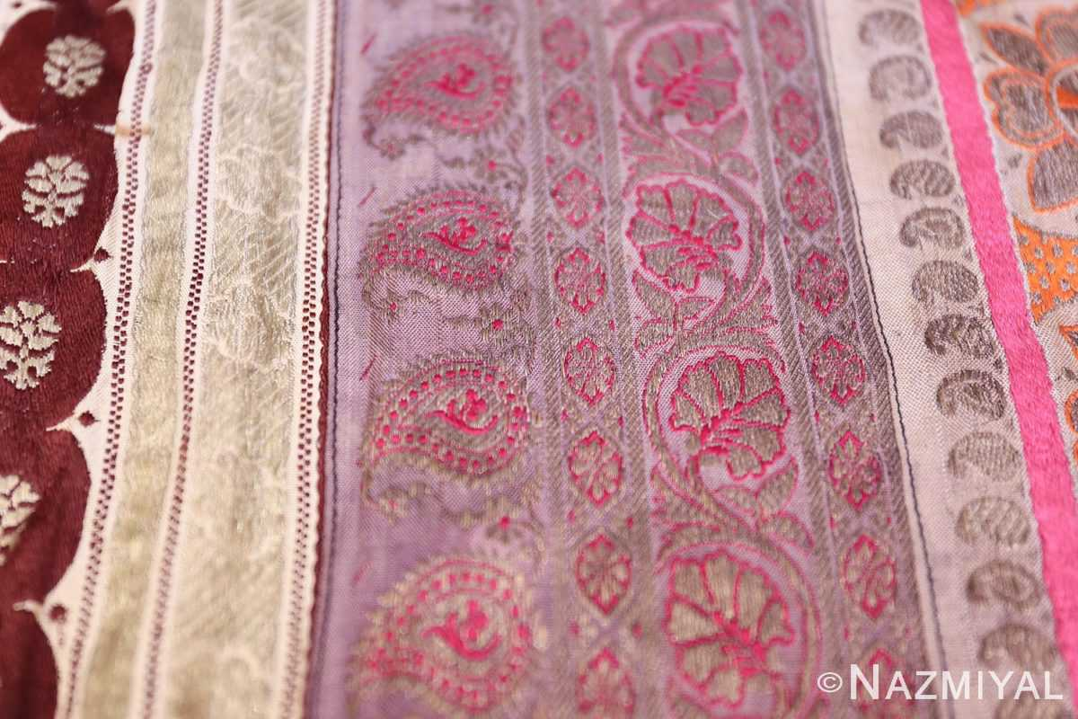 antique silk persian kerman textile 49782 texture Nazmiyal