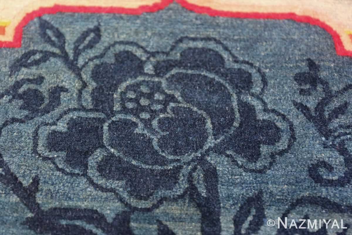Antique Tiebtan Horse Cover 49794 flower on top Nazmiyal
