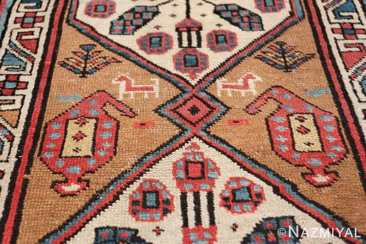 antique tribal persian bakshaish runner rug 49725 animal Nazmiyal