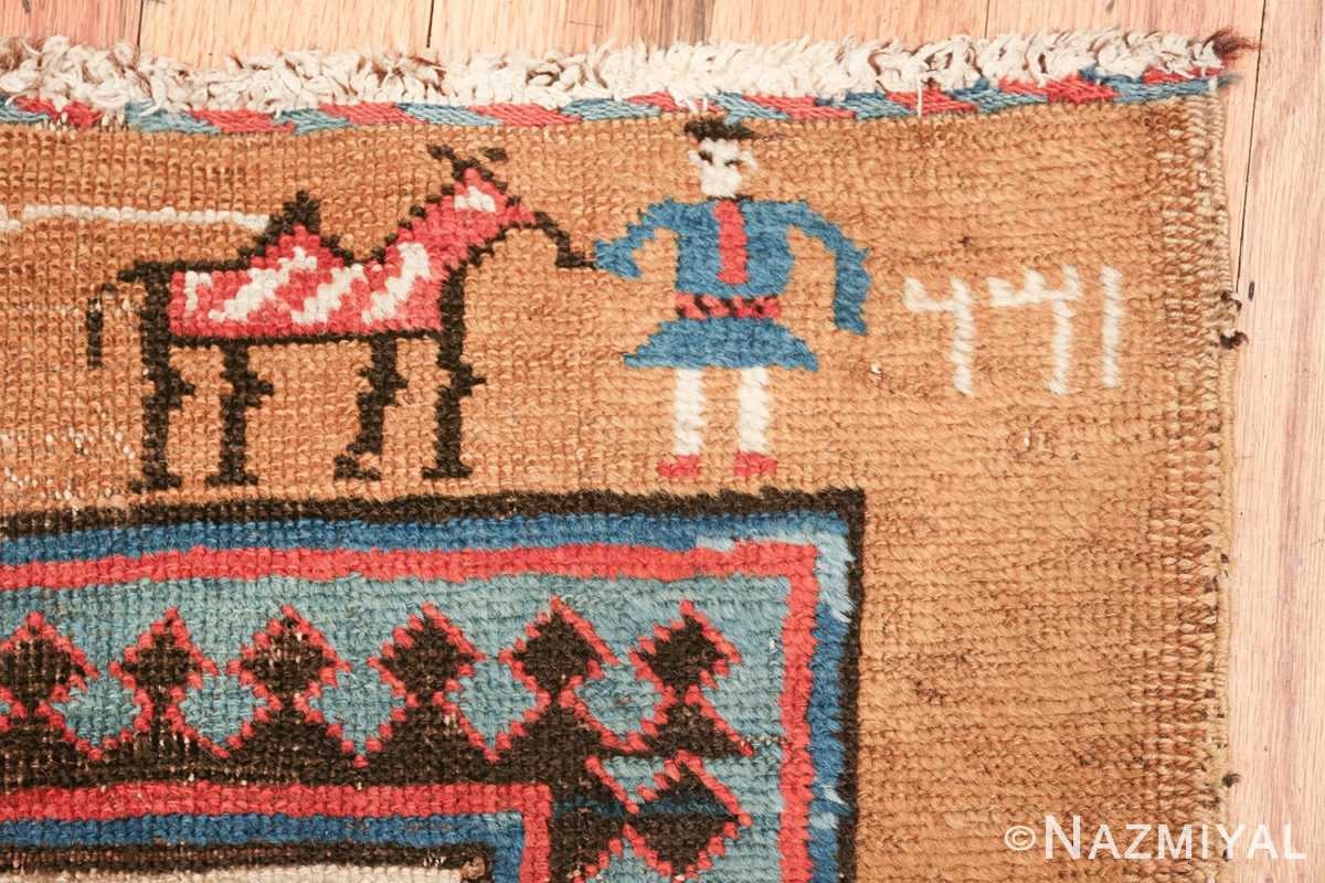 antique tribal persian bakshaish runner rug 49725 date Nazmiyal