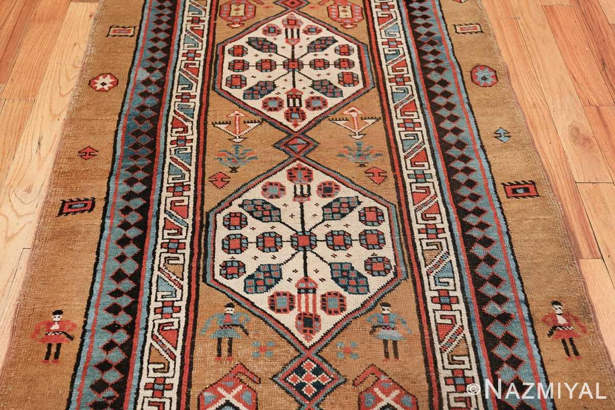 antique tribal persian bakshaish runner rug 49725 middle Nazmiyal
