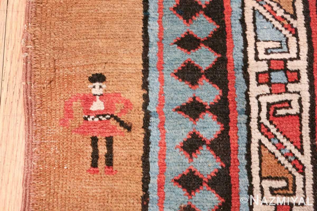 antique tribal persian bakshaish runner rug 49725 soldier Nazmiyal