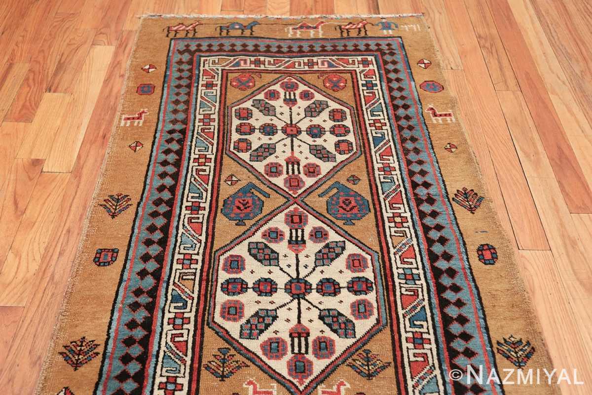 antique tribal persian bakshaish runner rug 49725 top Nazmiyal