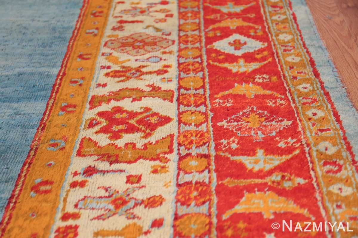 antique turkish angora oushak rug 49688 border Nazmiyal