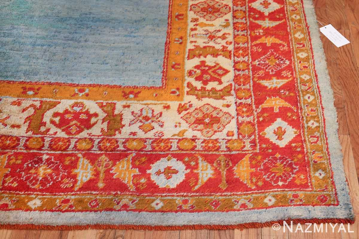 antique turkish angora oushak rug 49688 corner Nazmiyal