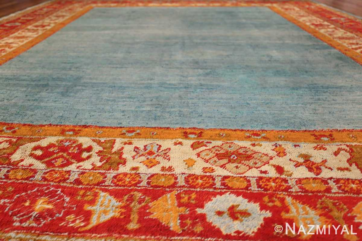 antique turkish angora oushak rug 49688 field Nazmiyal