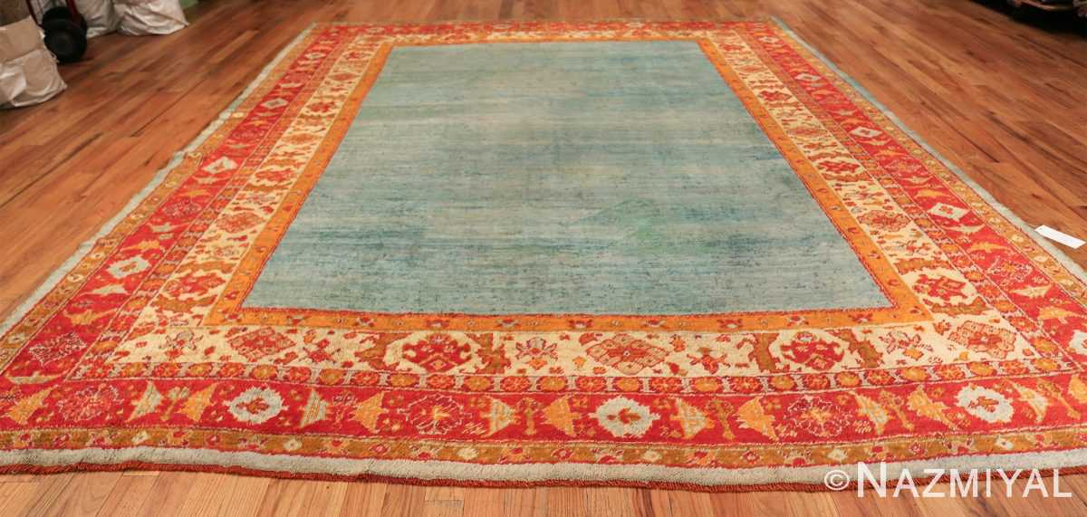 antique turkish angora oushak rug 49688 whole Nazmiyal