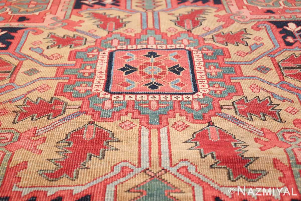 geometric antique persian heriz rug 49475 center Nazmiyal