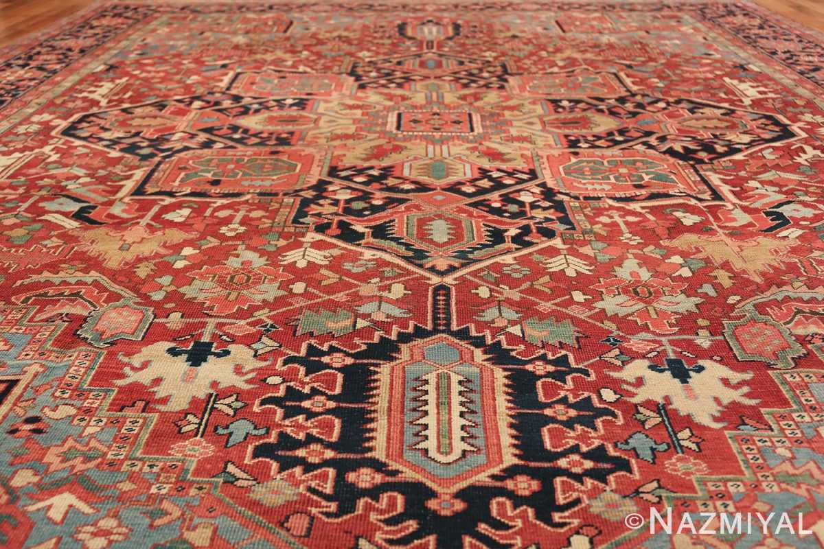 geometric antique persian heriz rug 49475 field Namiyal