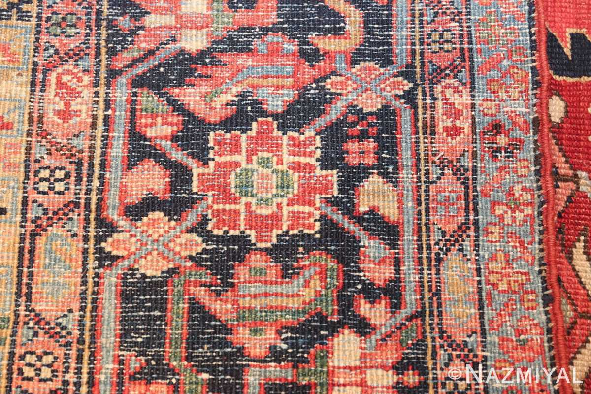 geometric antique persian heriz rug 49475 knots Nazmiyal