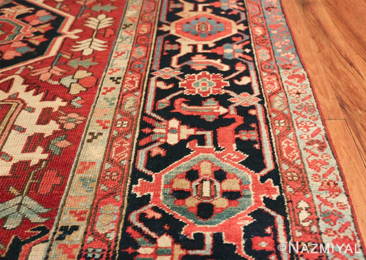geometric antique persian heriz rug 49475 lines Nazmiyal