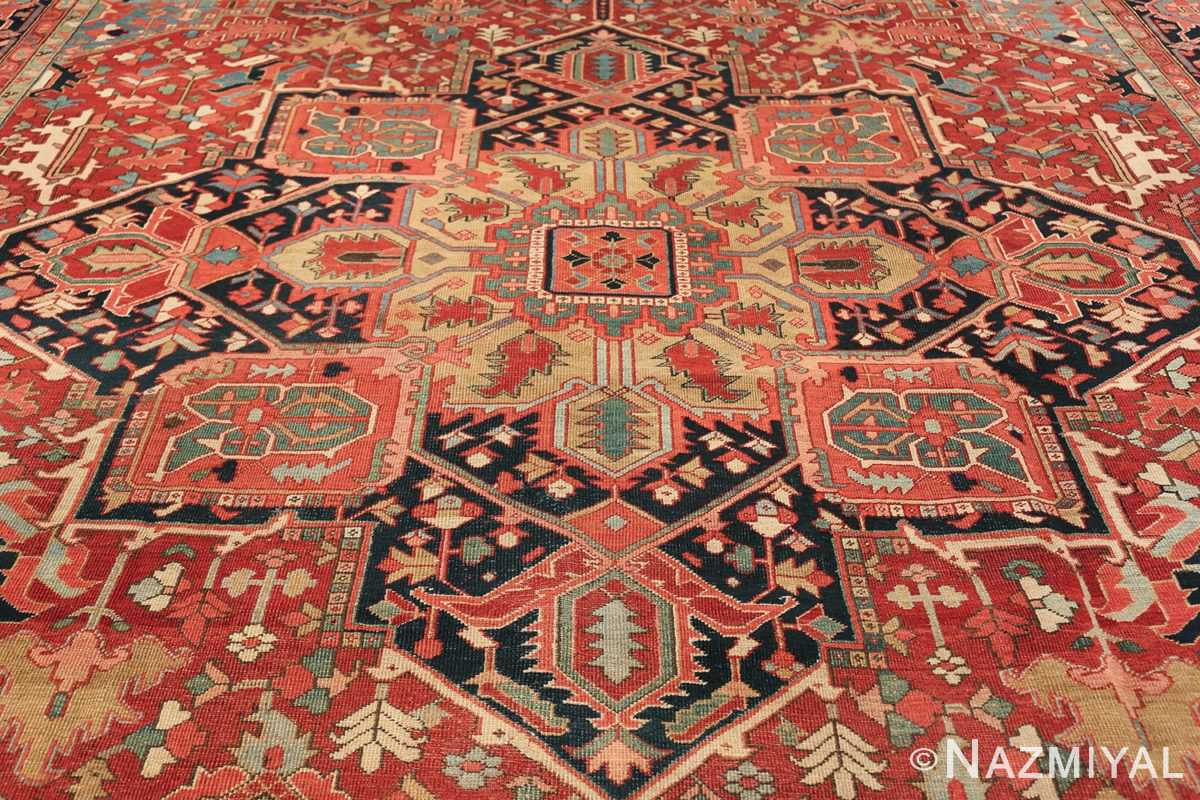 geometric antique persian heriz rug 49475 medallion Nazmiyal