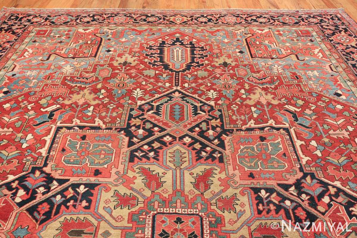 geometric antique persian heriz rug 49475 top Nazmiyal