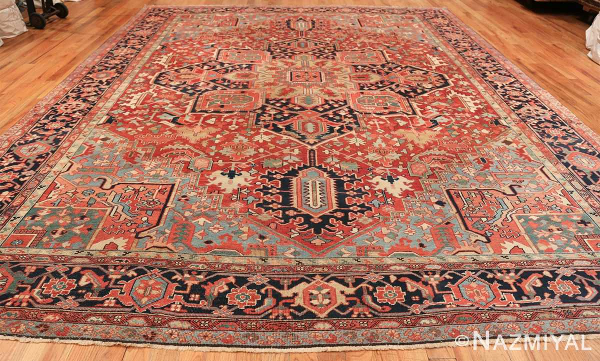 geometric antique persian heriz rug 49475 whole Nazmiyal