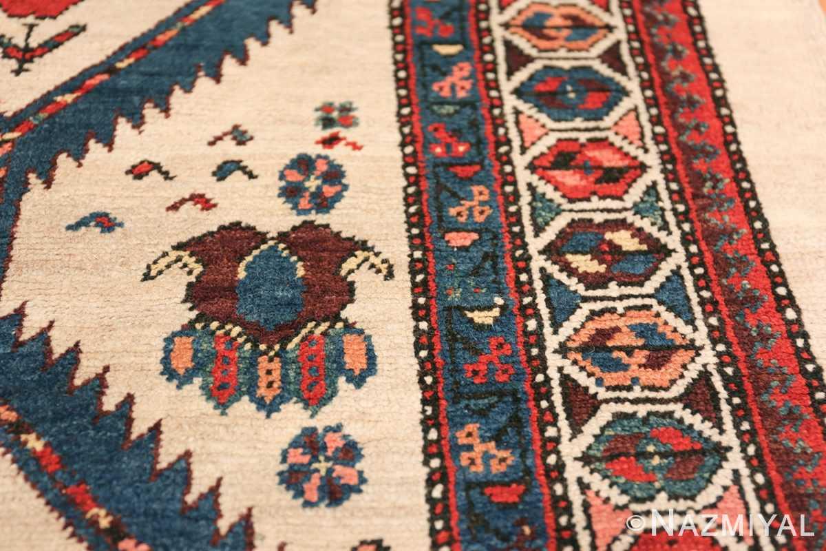 ivory background antique persian sarab runner rug 49769 border Nazmiyal