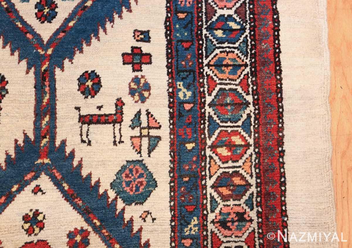 ivory background antique persian sarab runner rug 49769 design Nazmiyal