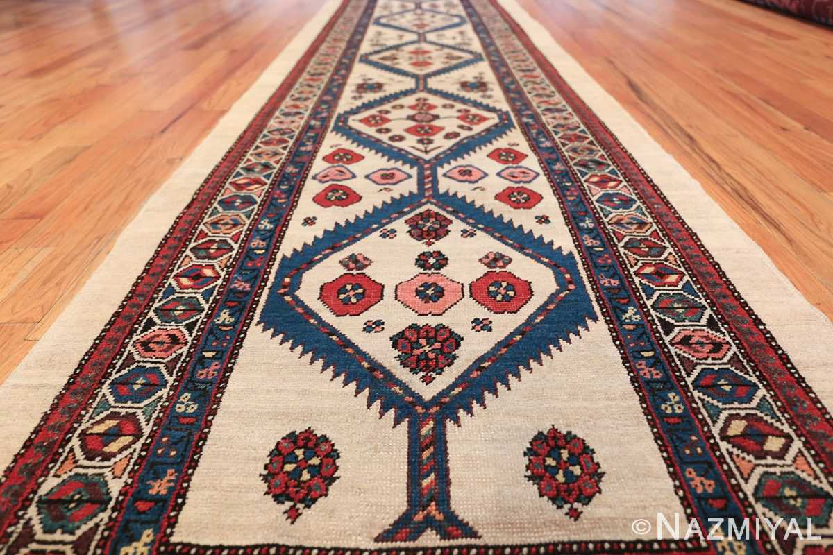 ivory background antique persian sarab runner rug 49769 field Nazmiyal