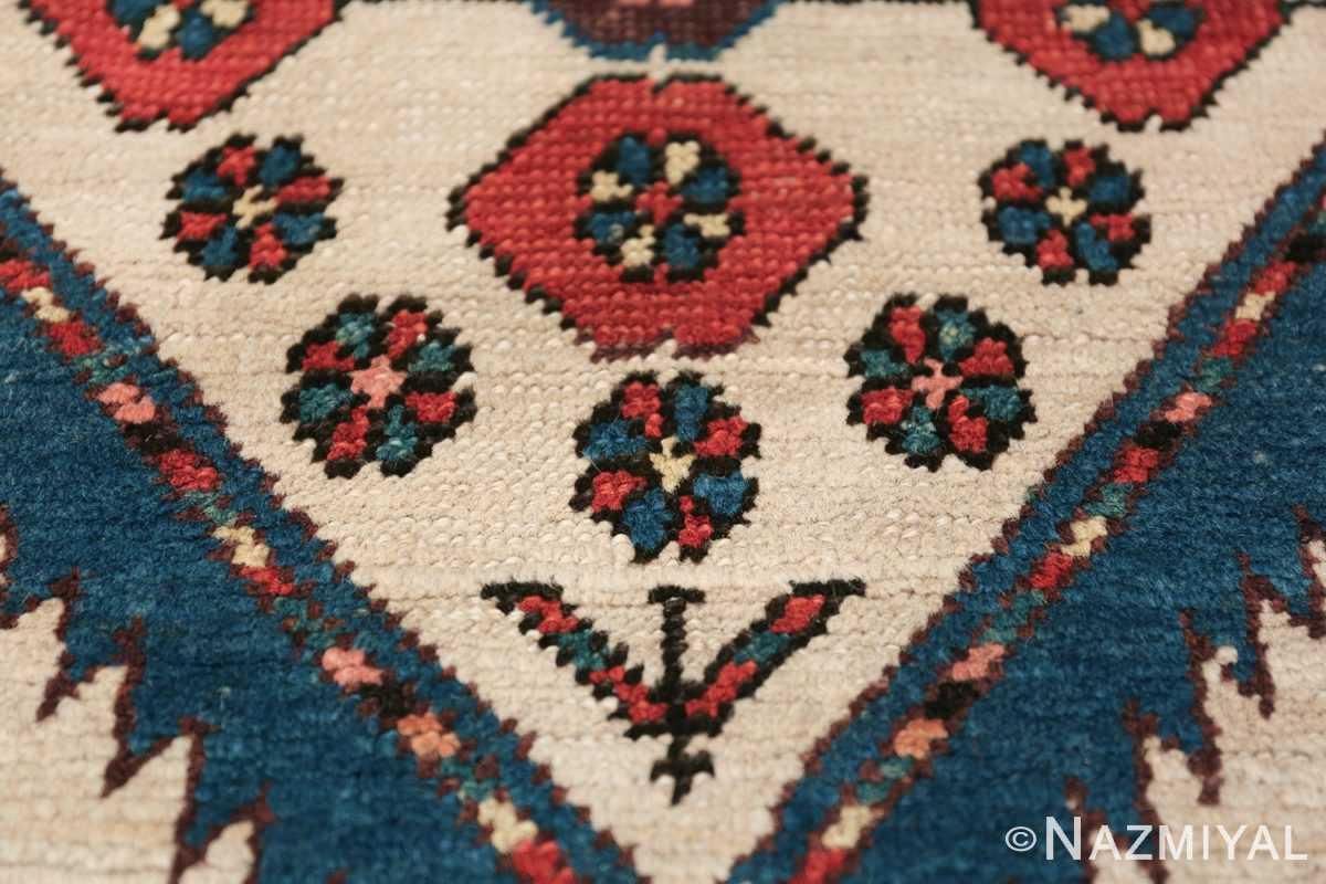 ivory background antique persian sarab runner rug 49769 flowers Nazmiyal
