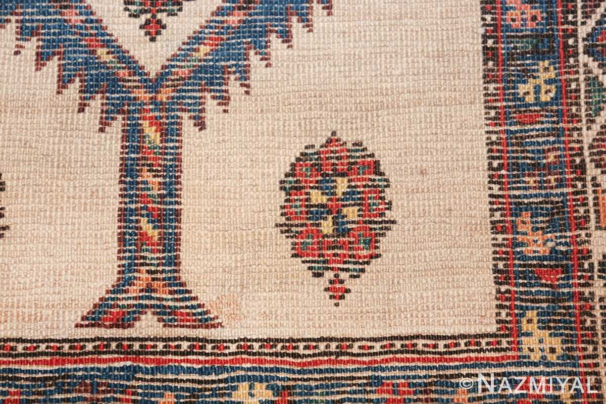 ivory background antique persian sarab runner rug 49769 knots Nazmiyal