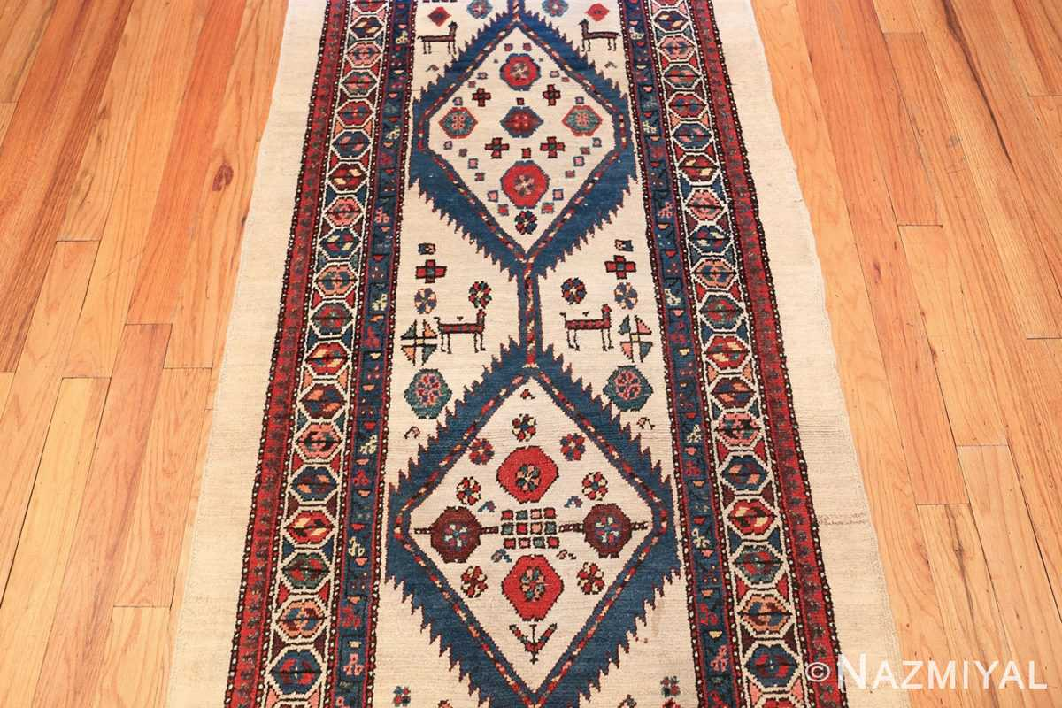 ivory background antique persian sarab runner rug 49769 middle Nazmiyal