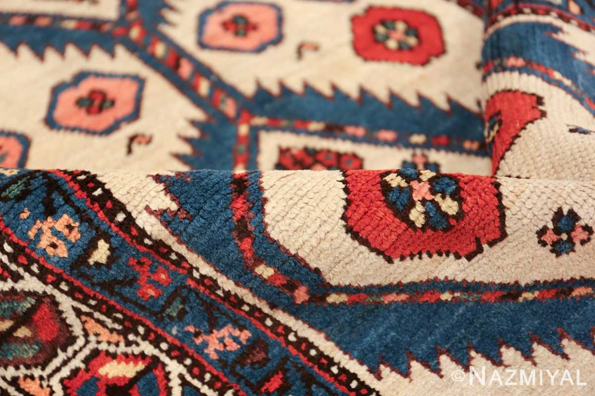 ivory background antique persian sarab runner rug 49769 pile Nazmiyal
