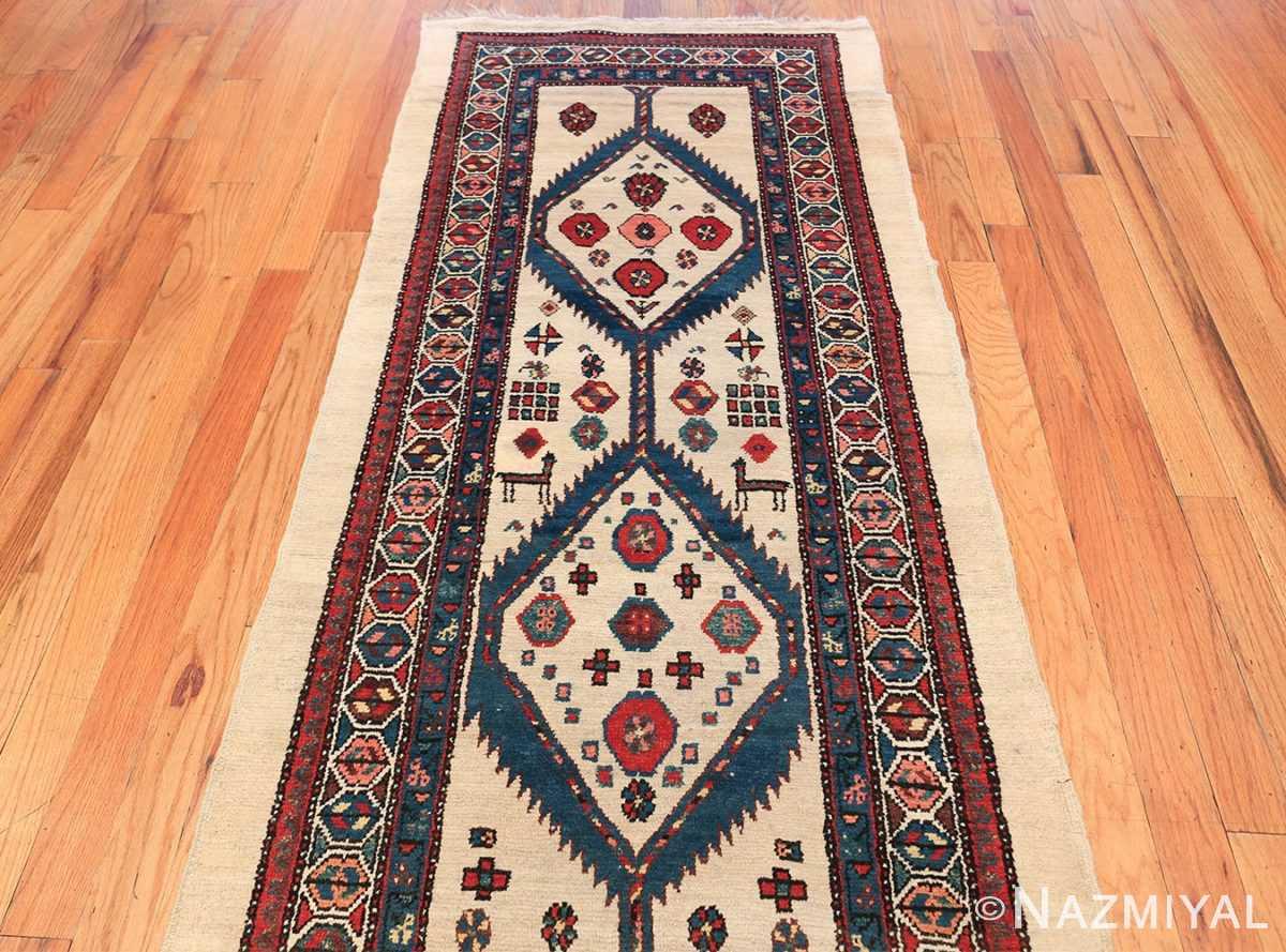 ivory background antique persian sarab runner rug 49769 top Nazmiyal