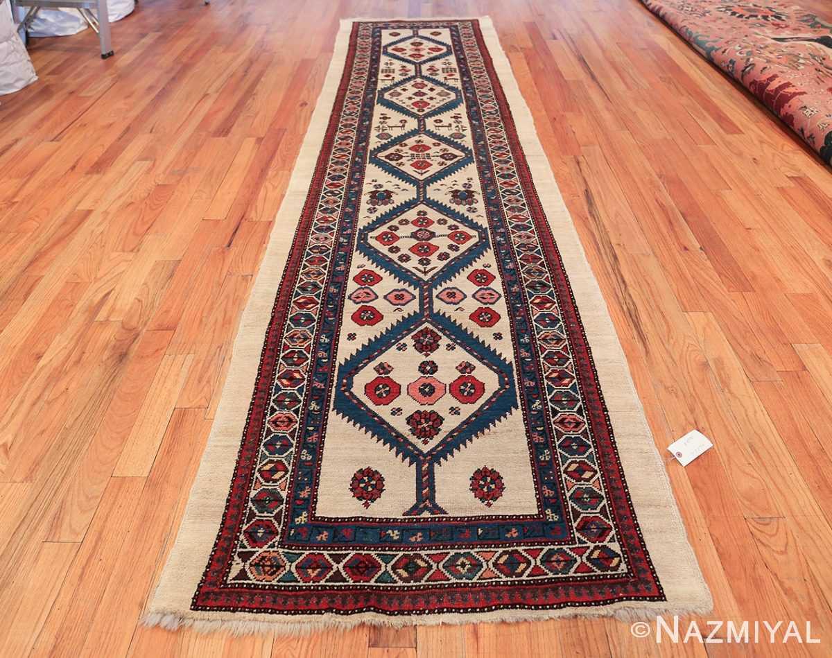 ivory background antique persian sarab runner rug 49769 whole Nazmiyal