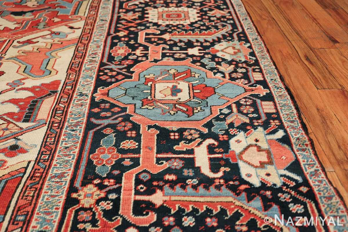 large antique persian serapi rug 49705 border Nazmiyal