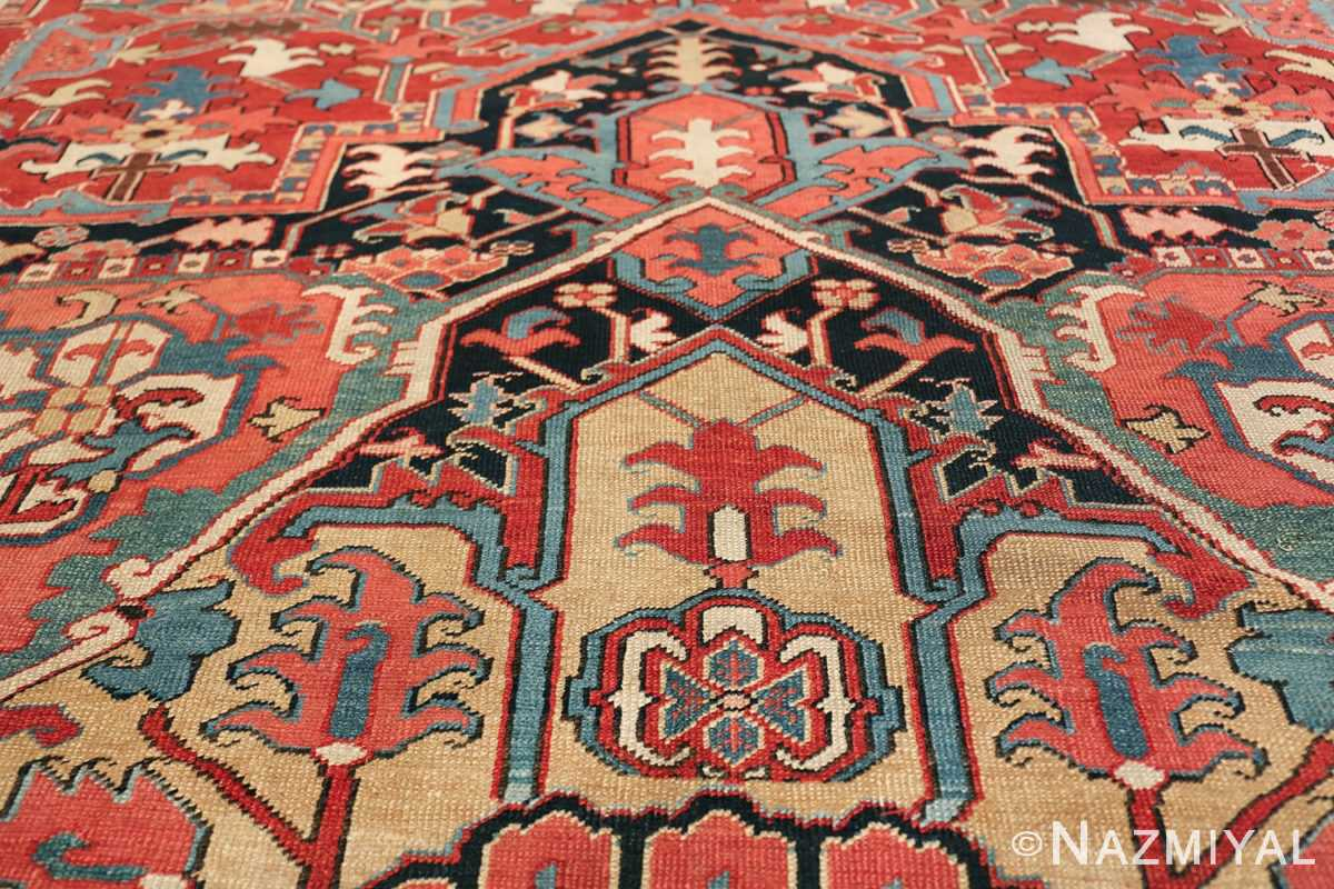 large antique persian serapi rug 49705 design Nazmiyal
