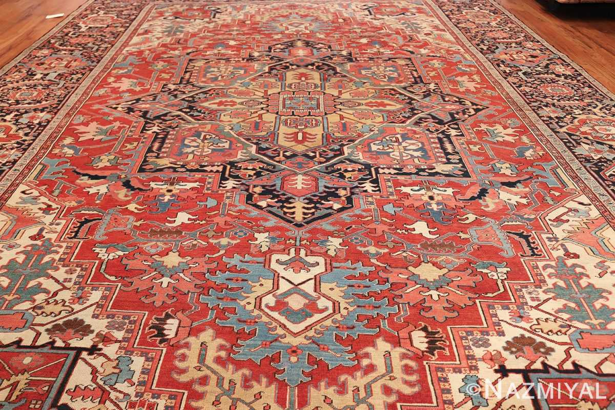 large antique persian serapi rug 49705 field Nazmiyal