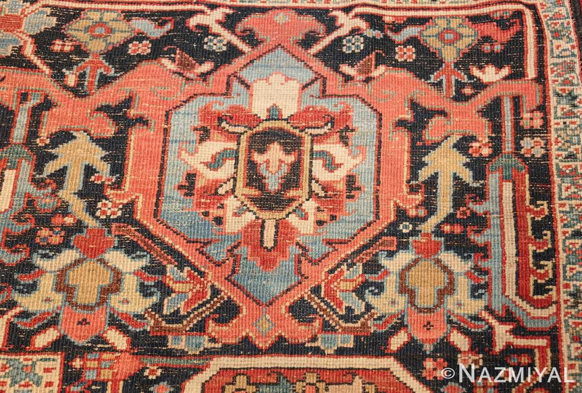 large antique persian serapi rug 49705 knots Nazmiyal