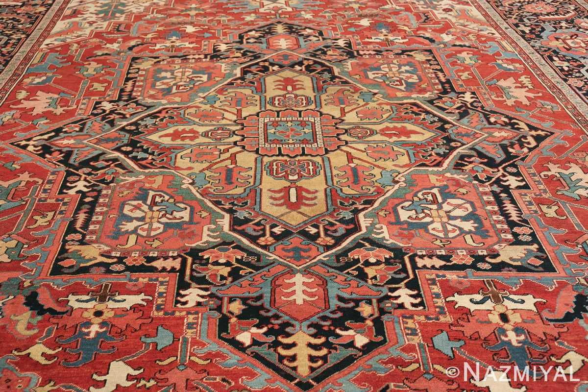 large antique persian serapi rug 49705 medallion Nazmiyal