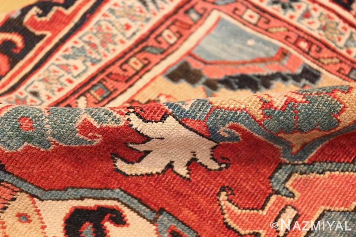 large antique persian serapi rug 49705 pile Nazmiyal