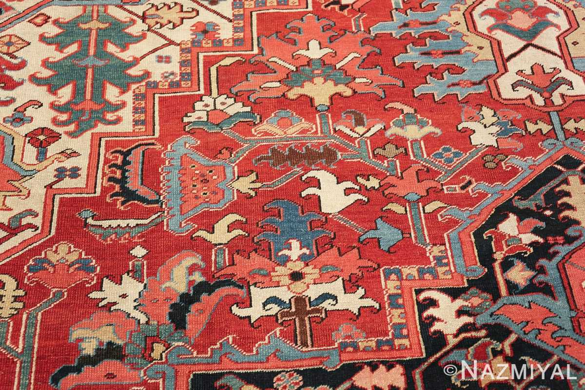 large antique persian serapi rug 49705 scrolls Nazmiyal