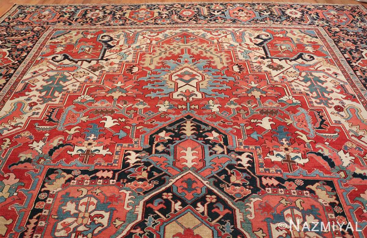 large antique persian serapi rug 49705 top Nazmiyal