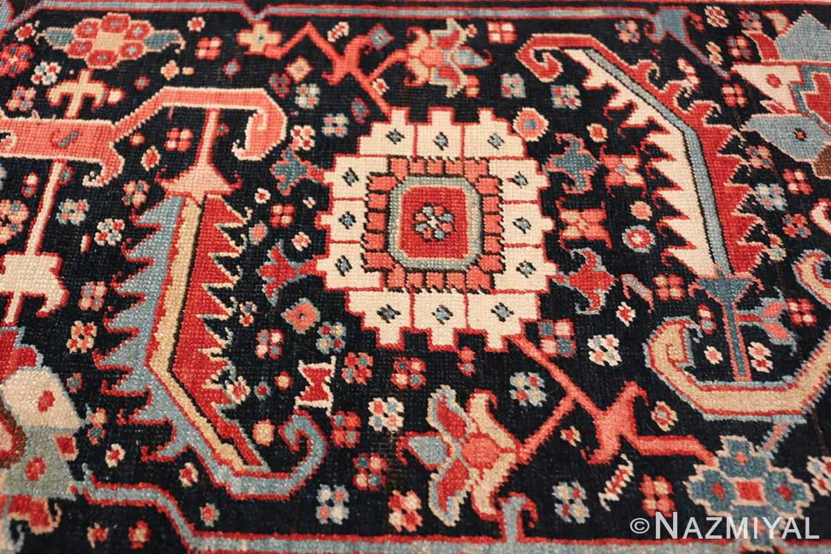 large antique persian serapi rug 49705 white Nazmiyal
