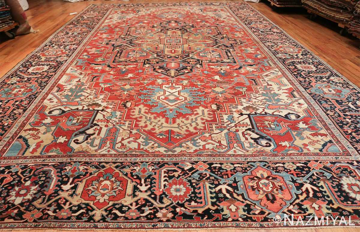 large antique persian serapi rug 49705 whole Nazmiyal