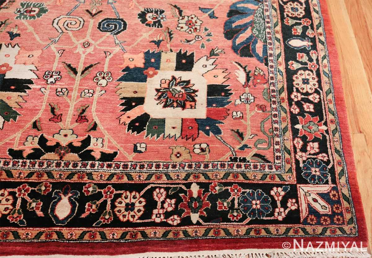 large vase design indian agra rug 49770 corner Nazmiyal
