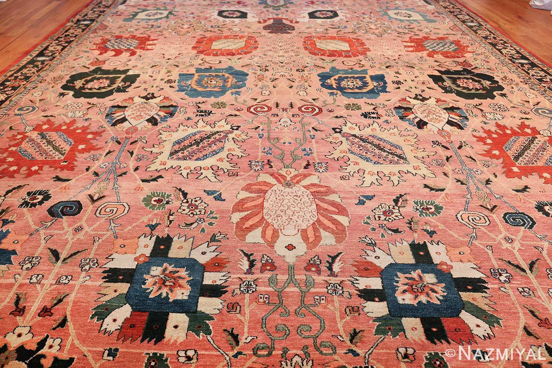 large vase design indian agra rug 49770 field Nazmiyal