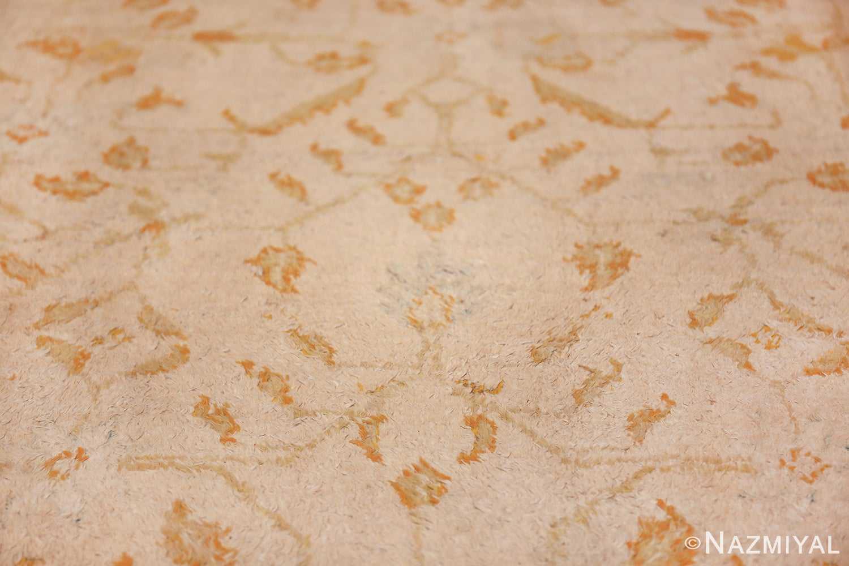 long and narrow ivory indian agra runner rug 49752 blue Nazmiyal