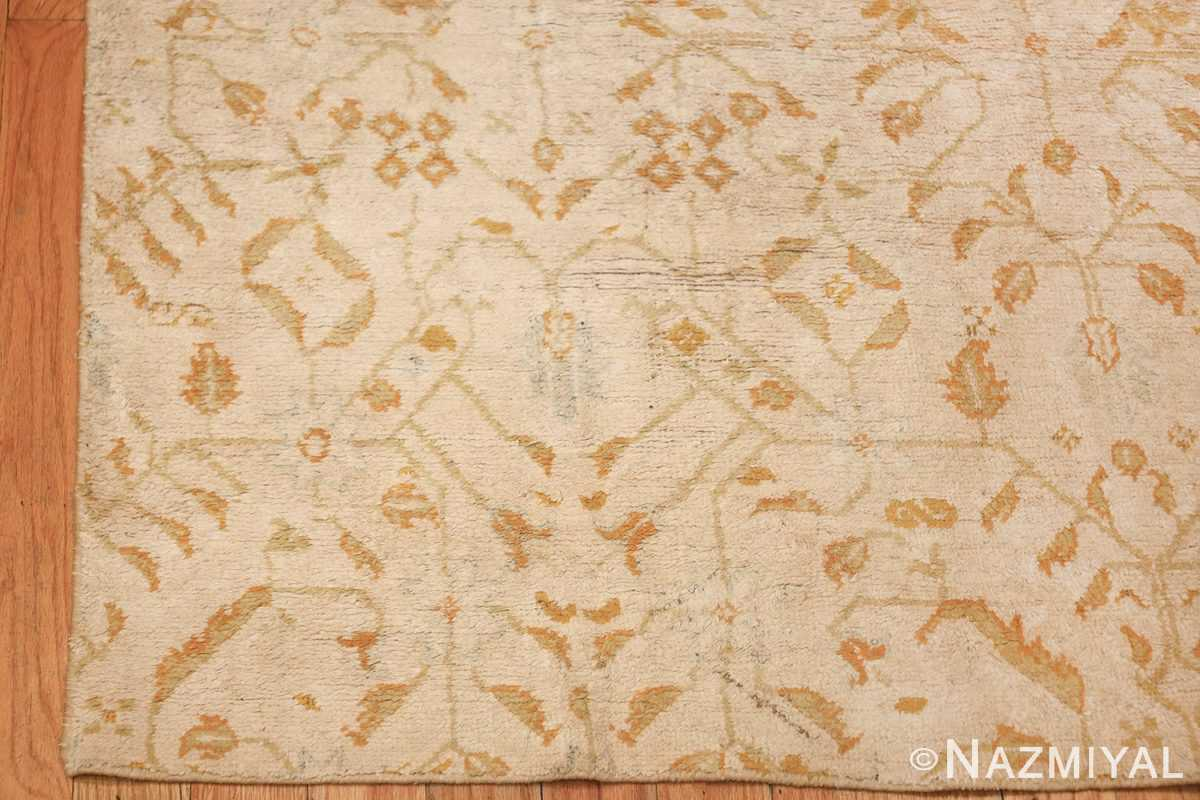 long and narrow ivory indian agra runner rug 49752 corner Nazmiyal