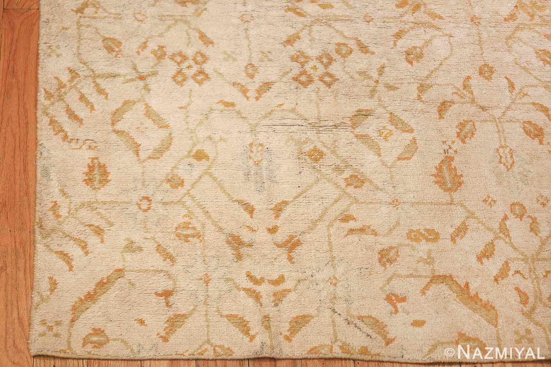 long and narrow ivory indian agra runner rug 49752 corner Nazmiyal