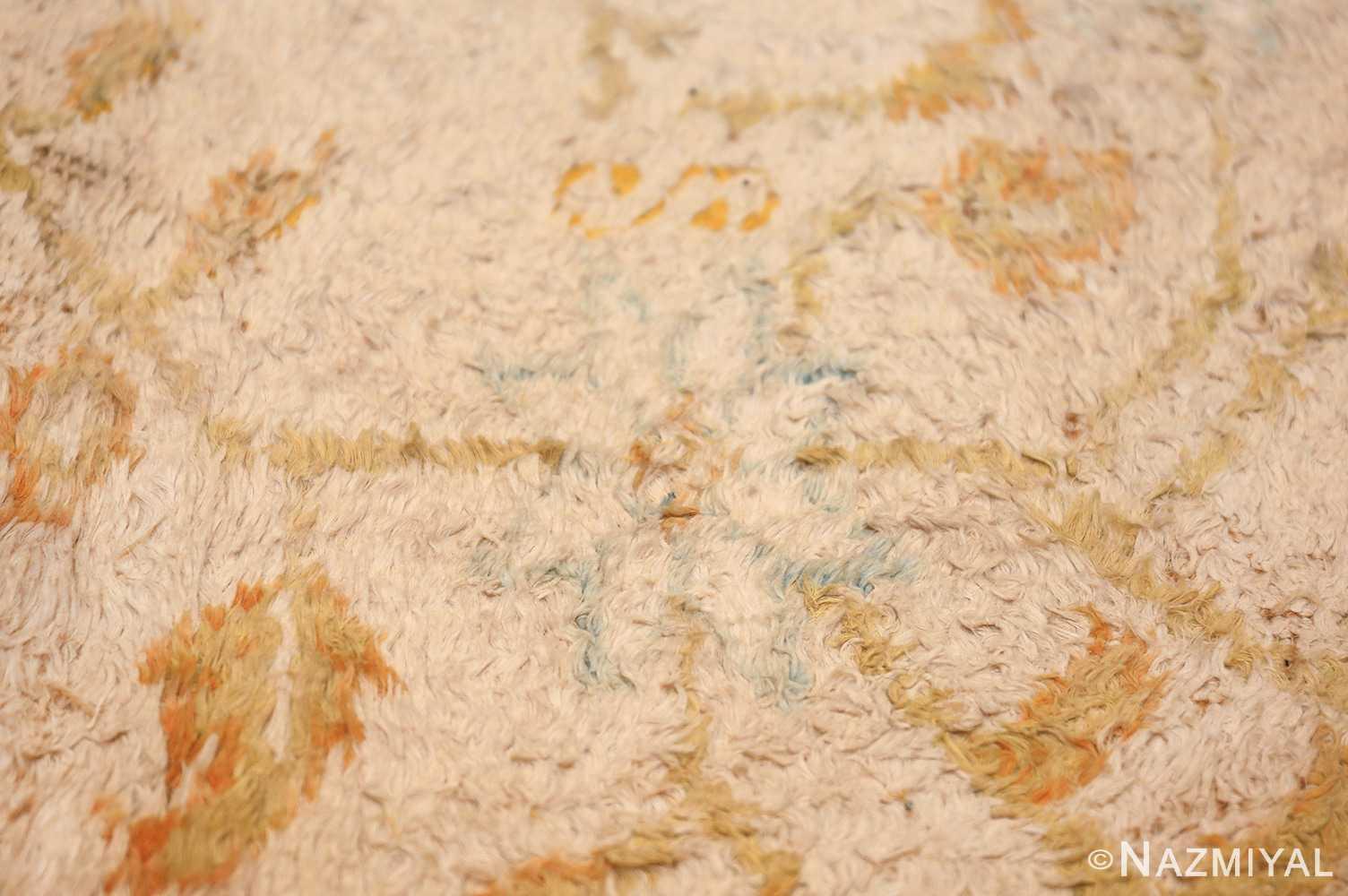 long and narrow ivory indian agra runner rug 49752 design Nazmiyal