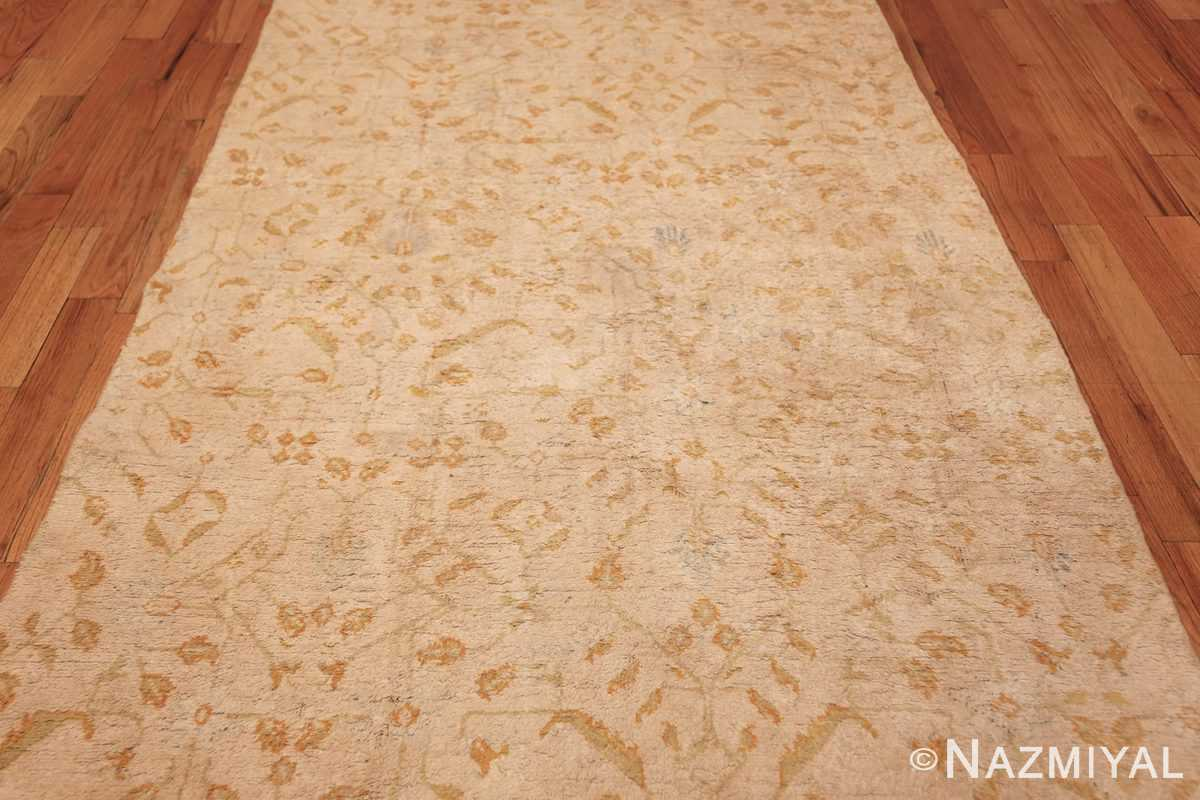 long and narrow ivory indian agra runner rug 49752 middle Nazmiyal