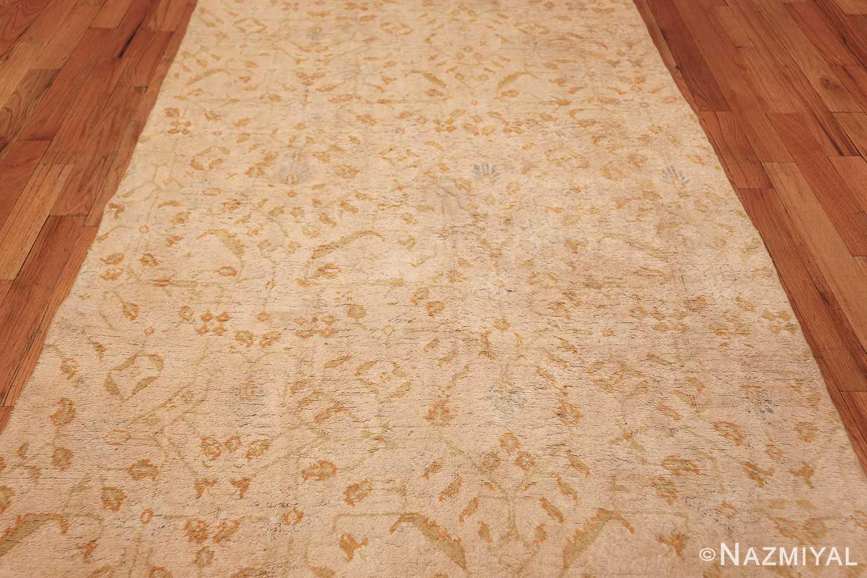 long and narrow ivory indian agra runner rug 49752 middle Nazmiyal