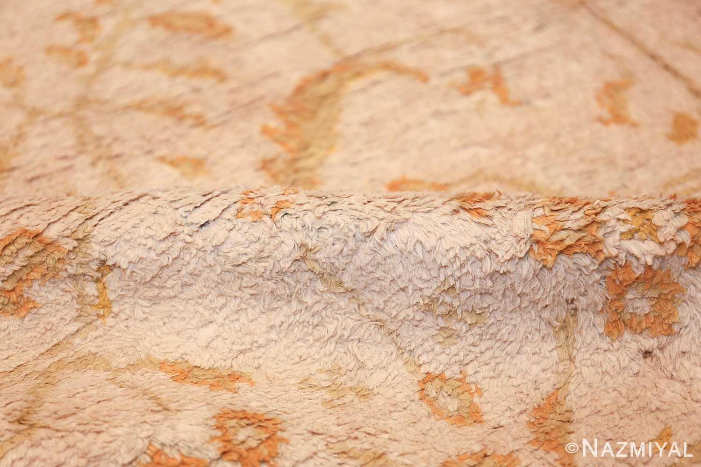 long and narrow ivory indian agra runner rug 49752 pile Nazmiyal