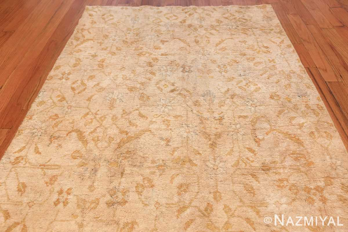 long and narrow ivory indian agra runner rug 49752 top Nazmiyal