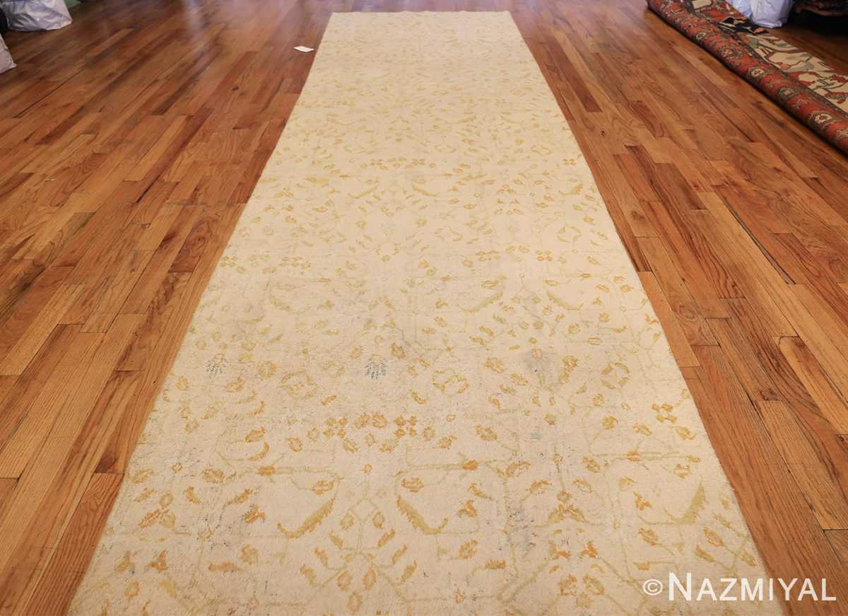 long and narrow ivory indian agra runner rug 49752 whole Nazmiyal