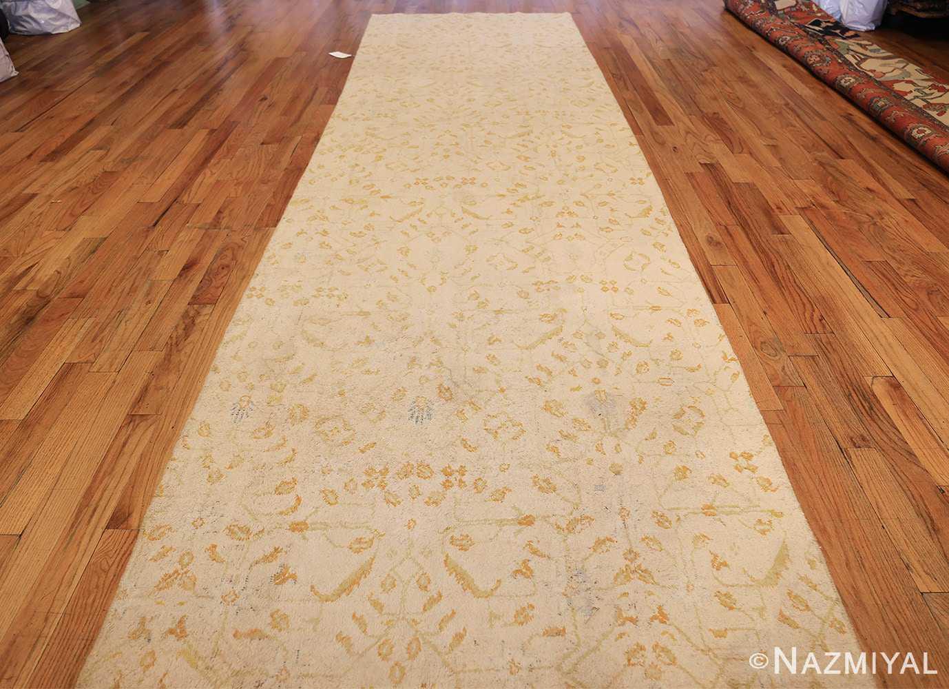 long and narrow ivory indian agra runner rug 49752 whole Nazmiyal