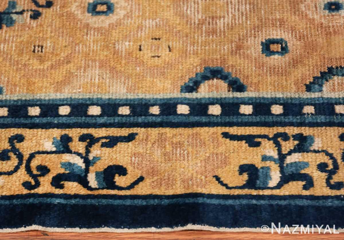 Mid 19th Century Chinese Ningxia rug 49798 border Nazmiyal
